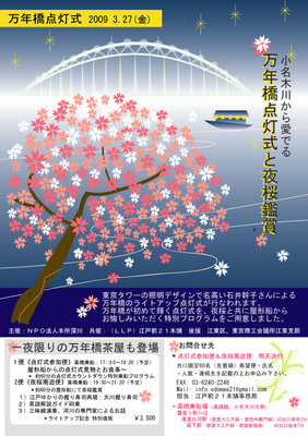 万年橋点灯式と夜桜鑑賞
